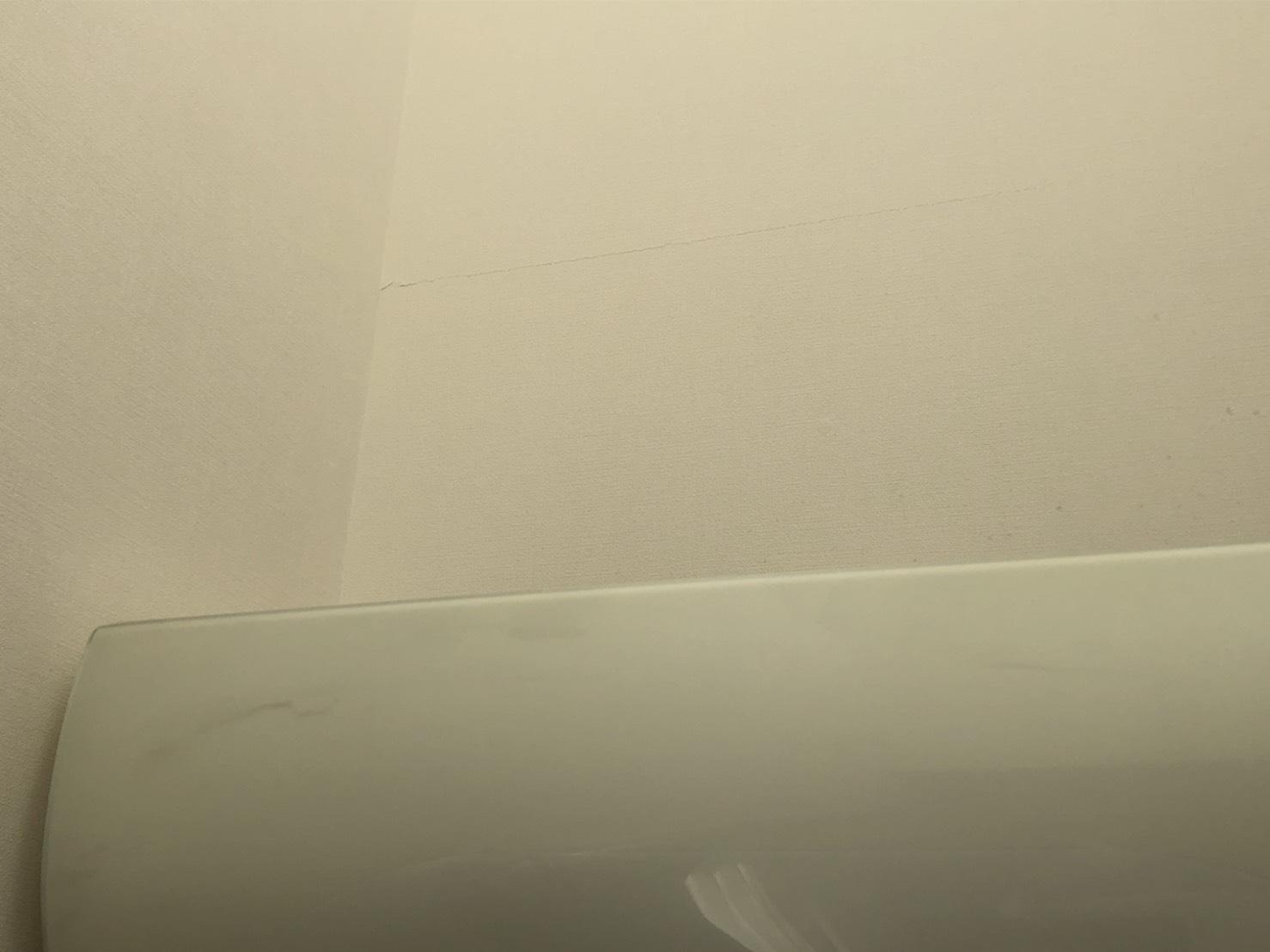 室内壁のヒビは10年保証の対象にならない